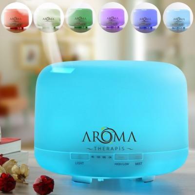 Aroma Terapi Diffusier 4 Zamanlayıcı ve 7 Ortam Işığı Ayarına Sahip 300ml Diffusier
